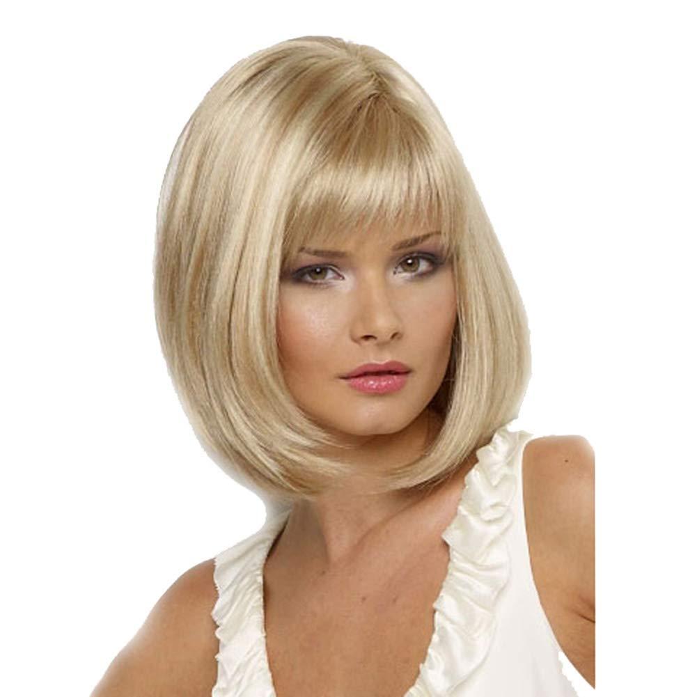 Homeofying Perruque pour Femme avec Franges d'air pour Cosplay ou soirée
