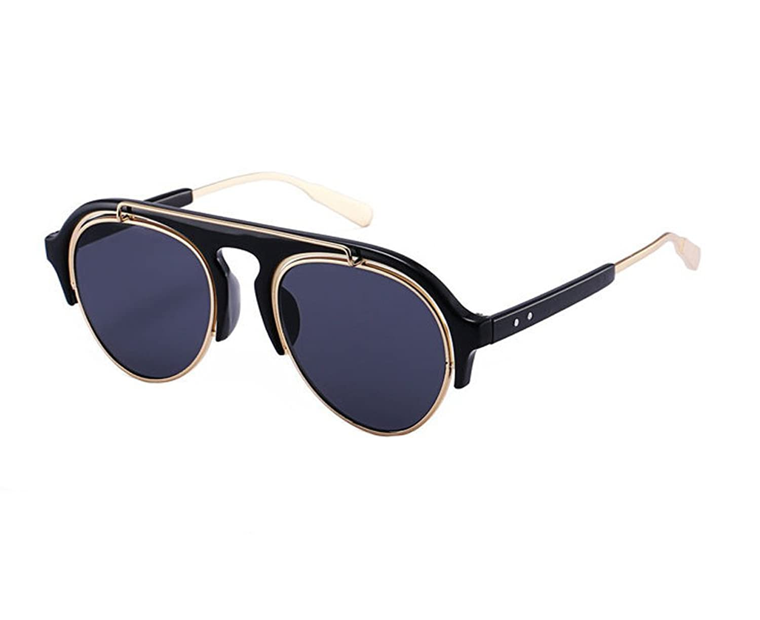 Colorful retro sunglasses metal sunglasses unisex