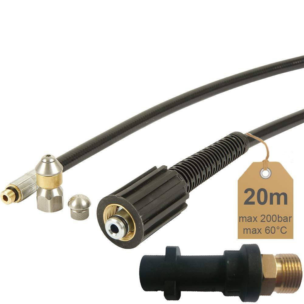 D/üse starr 200bar inkl 20m 60/°C inkl | von McFilter geeignet f/ür Hochdruckreiniger K/ärcher D/üse rotierend Rohrreinigungsschlauch Adapter