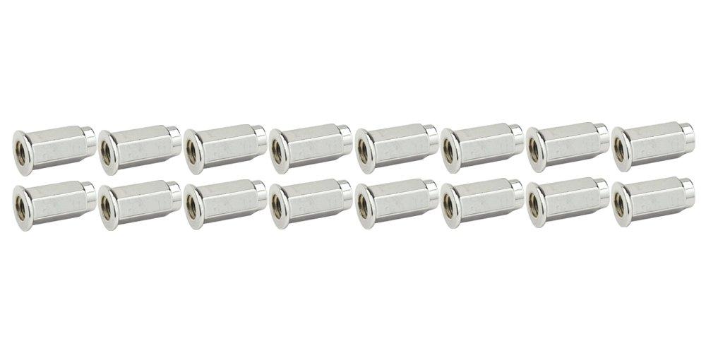 ITP (16pk) Flat Base Chrome Lug Nut 10mm x 1.25mm Thread Pitch w/14mm Head for Yamaha RAPTOR 700R 2013-2018
