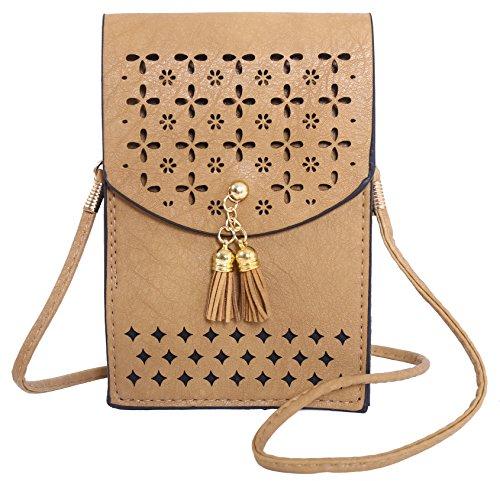 Vintage Casual Women Shoulder Bag(Khaki) - 8