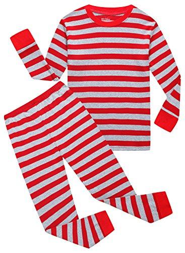 Family Feeling Little Girls Long Sleeve Pajamas Sets 100% Cotton Pyjamas Toddler Kids Pjs Size 3T - Pajamas Christmas