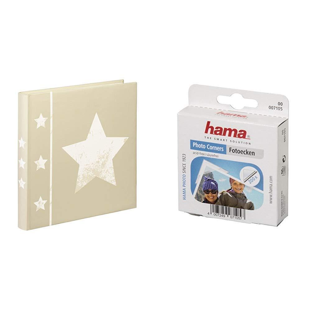 /Álbum de fotograf/ía 1 Paquete de 500 Unidades Color Beige Hama 002336 Pegafotos Adhesivos