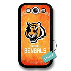 NFL Team Logo For Case Samsung Note 3 Cover - Custom Personalized Cincinnati Bengals Hard Plastic For Case Samsung Note 3 Cover - Black01