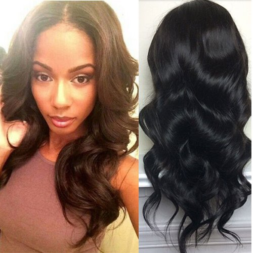 Foxys'Hair Human Hair U Part Wigs For Sale 130% Density Body Wave U Part Human Hair Wigs (16 natural ()