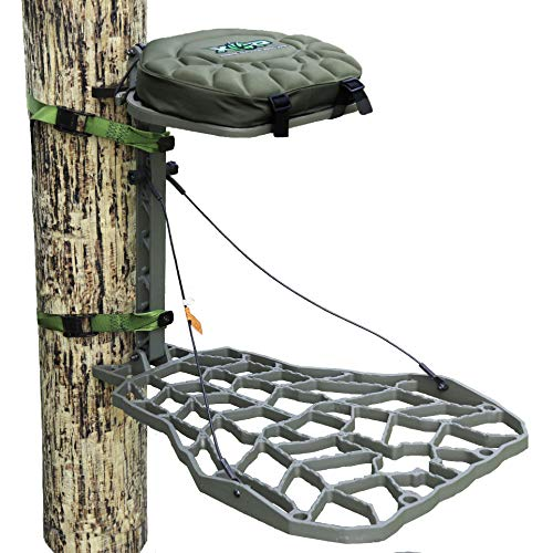 - XOP-XTREME OUTDOOR PRODUCTS Vanish XT - Cast Aluminum Hang On Tree Stand for Hunting - Deluxe Deer Stand