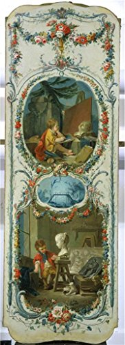('Francois Boucher (Workshop Of) - The Arts And Sciences Painting And Sculpture, 1750-52' Oil Painting, 24x66 Inch / 61x167 Cm ,printed On Perfect Effect Canvas ,this Amazing Art Decorative Prints On Canvas Is Perfectly Suitalbe For Home Office Decoration And Home Gallery Art And Gifts)