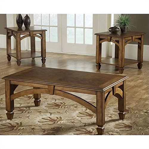 Bernards 3 Piece Cocktail (Bernards Wood Arch 3 Piece Coffee Table)