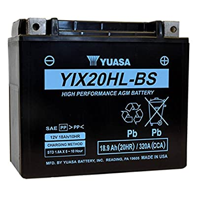 Yuasa High Performance Maintenance Free Battery - YIX20HL-BS YUAM620BHX