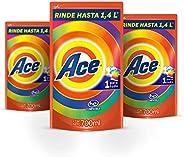 Ace Uno Para Todo Detergente Líquido 700ml 3 unidades, Total 2.1L