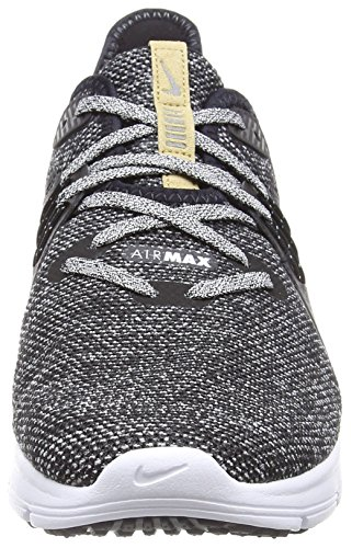 Nike Men's Air Max Sequent 3 Running Shoes, Black/Light Grey Mehrfarbig (Black/white-dark Grey 011)