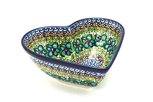 Polish Pottery Bowl - Deep Heart - Unikat Signature U151