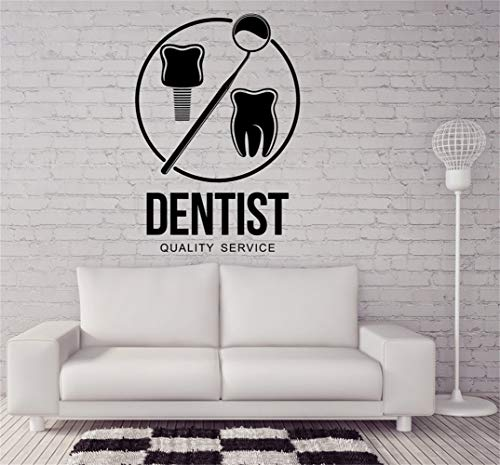 Wall Stickers Design Art Words Sayings Removable Lettering Dentist Quality Service Dental Clinic Stomatology]()