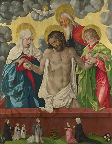 [The Perfect Effect Canvas Of Oil Painting 'Hans Baldung Grien The Trinity And Mystic Pieta ' ,size: 18 X 23 Inch / 46 X 59 Cm ,this Cheap But High Quality Art Decorative Art Decorative Prints On Canvas Is Fit For Dining Room Gallery Art And Home Decoration And] (French Fries Costume Toddler)