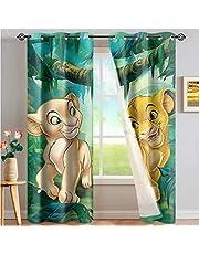 Lion King Verduisteringsgordijnen Voor Kinderen Slaapkamer Decor, Moderne Stijl Gordijn Cartoon Gordijnen Voor Woonkamer Set 220X215 Cm