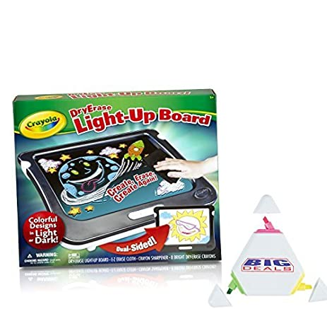 amazon com crayola dry erase light up board one board with two