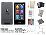 Apple iPod Nano 8th Generation, 16GB- Space Grey + Extra Accessories Package *LATEST MODEL