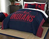 The Northwest Company Officially Licensed MLB Cleveland Indians Grandslam Full/Queen Comforter and 2 Sham Set