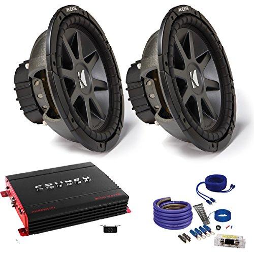 """Kicker CVR122 12"""" Bundle with MB Quart ZA2-1000.1D 1000 Watt Mono Amp, Wire Kit"""