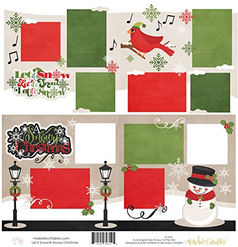 (Two Printed Layouts - Let it Snow & A Snowy Christmas - 2-2 Page 12