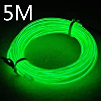 Efrank 5M flessibile di EL Wire Neon Luce Dance Party Decor + controller (verde)