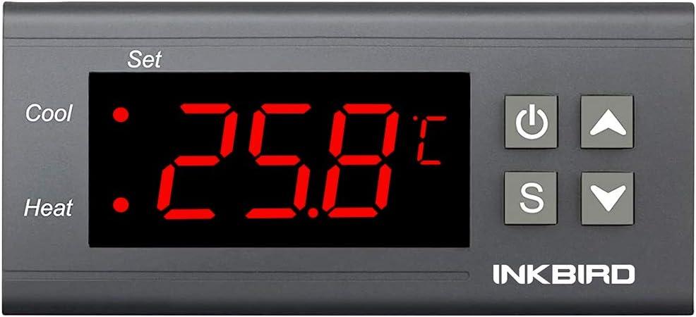 Inkbird ITC-1000K 220V Termostato Digital Controlador de temperatura Refrigeración&Calefacción para Calentador de agua, Acuarios, Incubación, Ventilador y Refrigerador