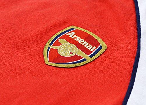 Arsenal FC Schlafanzug Herren Offiziell PJ Nachtwäsche Größen klein bis XXL (XXL, rot)