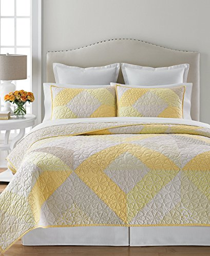- Martha Stewart Collection Patchwork Eyelet Collector's Twin Quilt