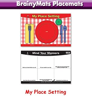 Table Setting \u0026 Manners Placemat  sc 1 st  Amazon.com & Amazon.com: Tot Talk Table Setting \u0026 Etiquette Educational ...