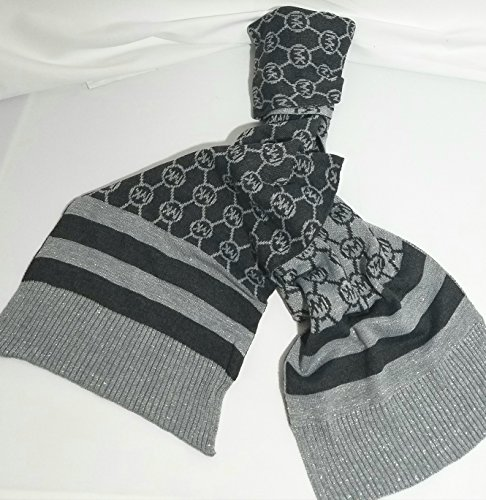 Michael Kors Metalic Scarf Circle Logo Dazzling Knit, - Michael Kors Sf