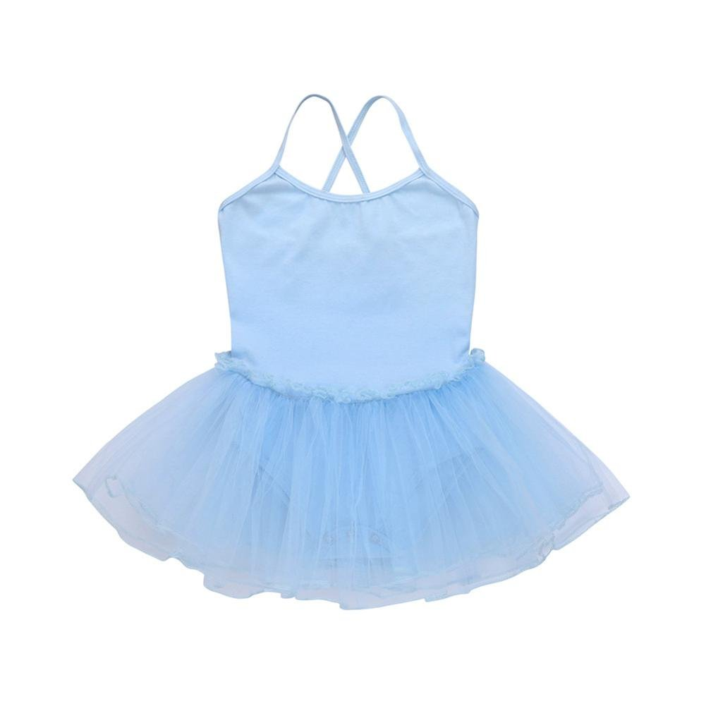 Freshzone Kids Girls Colorful Ballet Dress Tutu Leotard Dance Gymnastics Strap Clothe