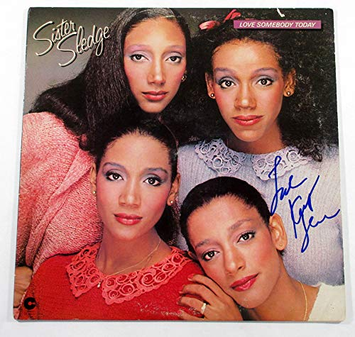 Kathy Sledge Signed Album Sister Sledge Love Somebody Today w/AUTO DF018425 ()