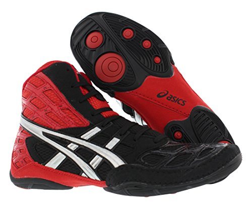 ASICS Men's Split Second 9 Wrestling Shoe,Red/Silver/Black,10 M US