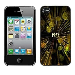 Be Good Phone Accessory // Dura Cáscara cubierta Protectora Caso Carcasa Funda de Protección para Apple Iphone 4 / 4S // BIBLE Pray