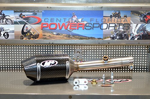 Exhaust Slip Ons - 15-18 YAMAHA YZF-R3: M4 Street Slayer Slip-On Exhaust (Carbon Fiber)