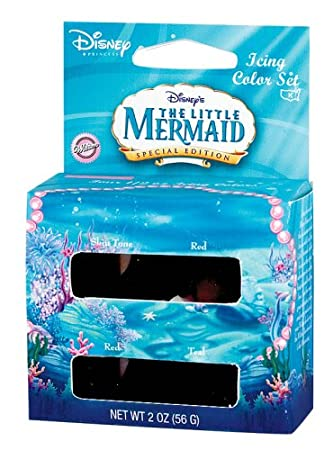 Amazon.com : Disneys Little Mermaid Icing Color Set : Food ...
