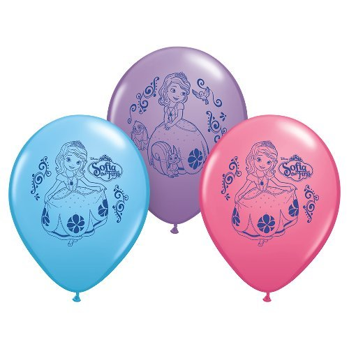 Pioneer National Latex Sofia The First 12'' Latex Balloons, 6 Count