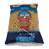 Primeluci Anelletti Durum Wheat Semolina Pasta - 1 lb (Pack of 4)
