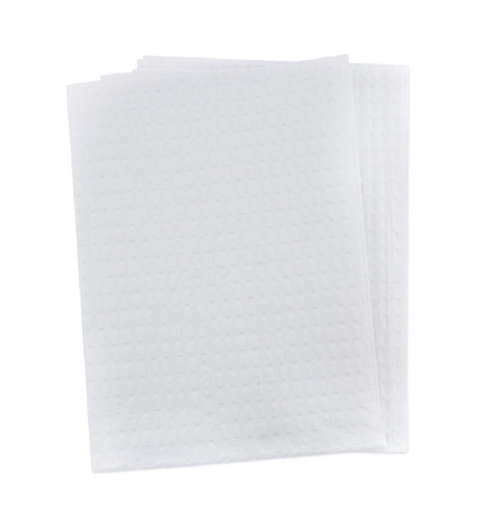McKesson 18-865 Procedure Towel, 2-Ply/Poly, White, 13'' Width, 18'' Length (Pack of 500)
