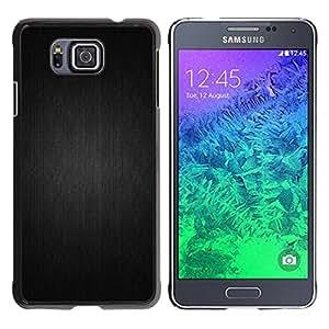 Motif gris - Metal de aluminio y de plástico duro Caja del teléfono - Negro - Samsung ALPHA G850