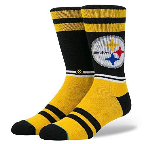 Stance M558C18LST Men's Steelers Logo Sock, Black - Medium (6-8.5)