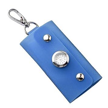 Aubess Fashion - Llavero Rectangular con Reloj, Azul: Amazon ...