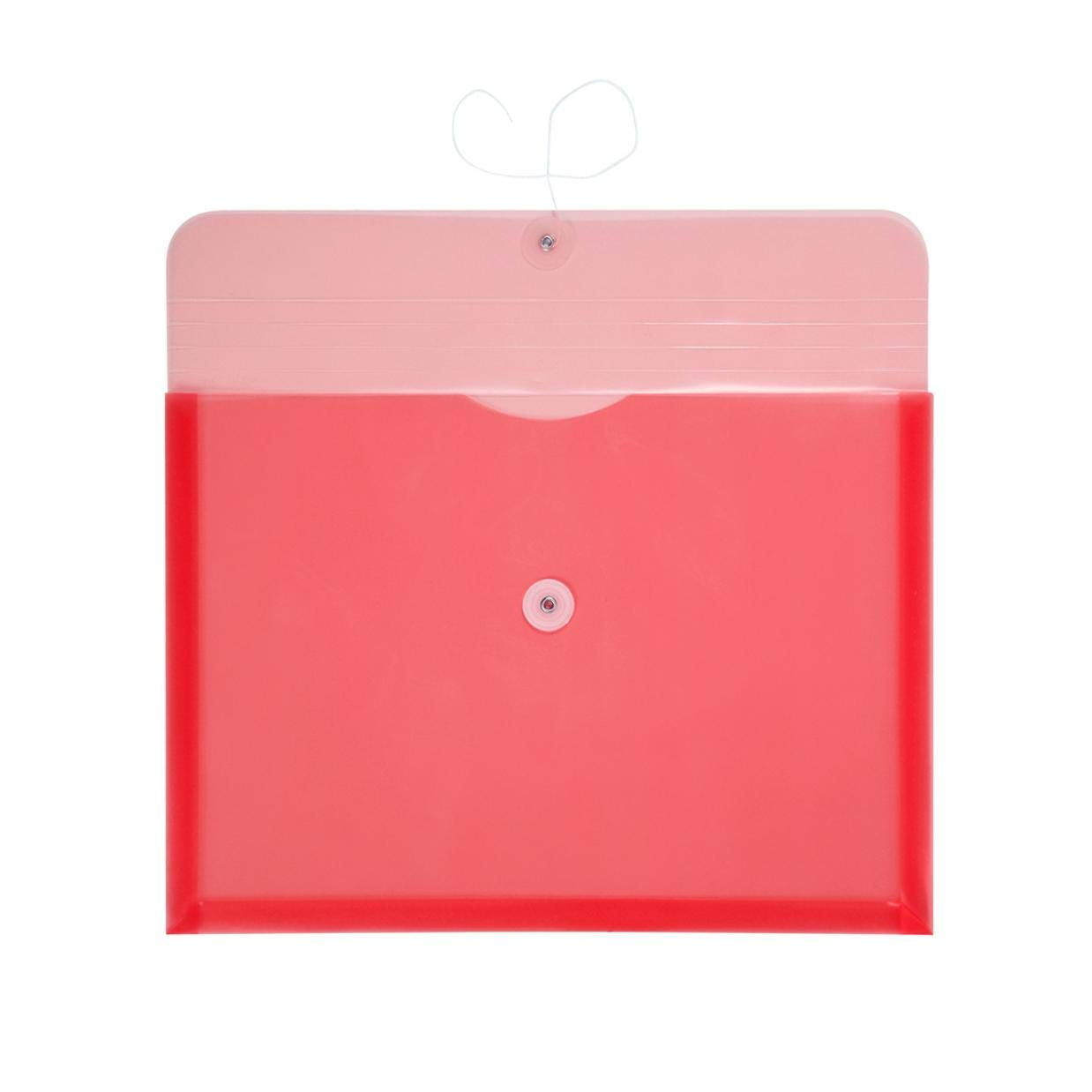 TIENO PVC Envelopes Legal Size with String Closure Expandable Gusset Folder Side Opening Pocket Stationery Holder 5PCS Green