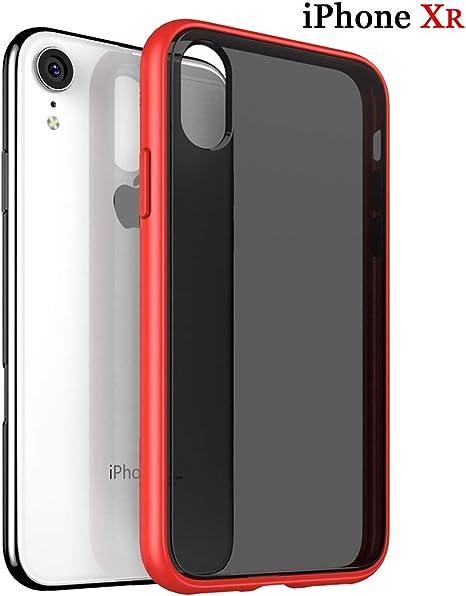 COVER CUSTODIA SILICONE Per Iphone Xr Trasparente Nera Rossa Blu