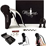Wine Art 3-Piece Premium Rabbit Wine Bottle Opener Box Set with Foil Cutter and Extra Corkscrew