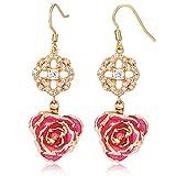 ZJchao Flower Dangle Earrings for Women 24K Gold - Best Reviews Guide