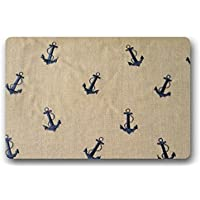 Shirleys Door Mats Custom Machine washable Retro Nautical Anchor doormat Rug Mat 23.6 x 15.7 Inch Bathroom Kitchen Decor Area Rug/Floor Mat 23.6 X 15.7 Inch