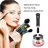 MelodySusie Electric Makeup Brush Cleaner and Dryer Spinner, Portable Electronic Automatic Brushes Cleaner, Cleans and Dries Makeup Brushes in Seconds