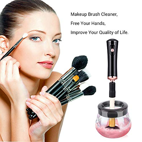 MelodySusie Electric Makeup Brush Cleaner and Dryer, Portable Electronic Automatic Brushes Cleaner, Cleans and Dries Makeup Brushes in - Makeup Brand Best Brushes