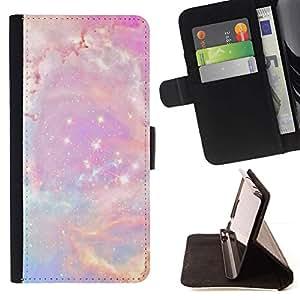 Momo Phone Case / Flip Funda de Cuero Case Cover - Estrellas Rosa Espacio Cosmos azul - LG G4